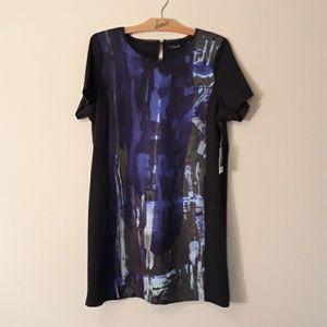 Vera Wang Autumn Romance Print Dress NEW XL